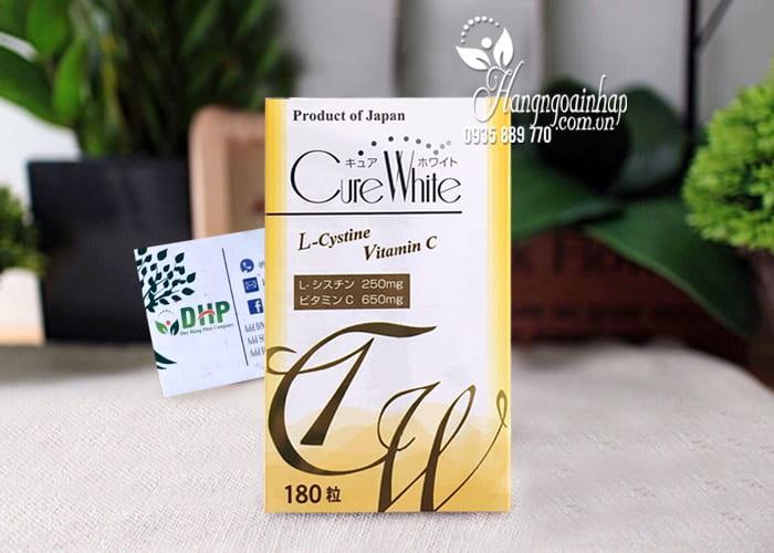 Viên uống trắng da trị nám Cure White Nhật Bản 180 viên 4
