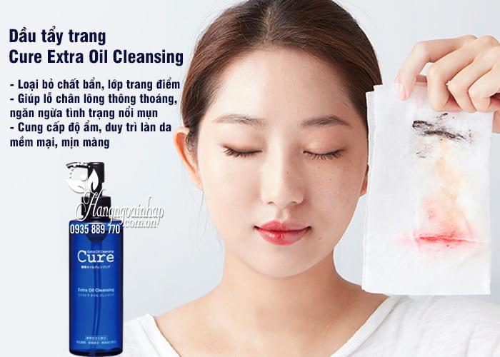 Dầu tẩy trang Cure Extra Oil Cleansing 200ml của Nhật 2