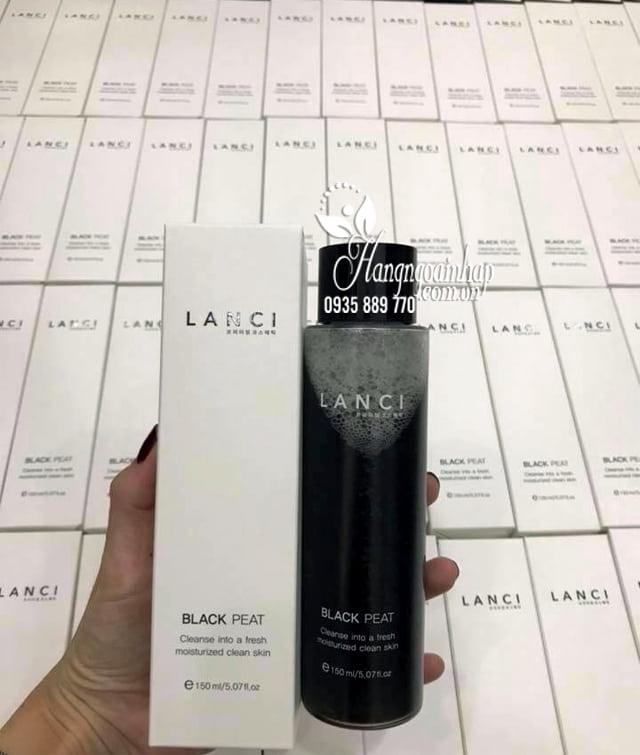 Nước tẩy trang Lanci Black Peat Hàn Quốc từ than hoạt tính 1