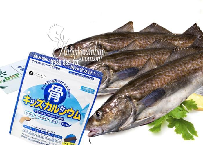 Bột canxi cá Tuyết Nhật Bản túi 140g cho trẻ từ 1 tuổi 1