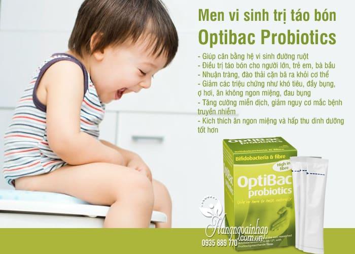Men vi sinh Optibac Probiotics trị táo bón cho trẻ từ 1 tuổi 6