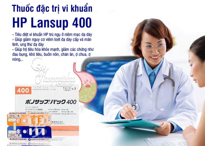 Thuốc đặc trị vi khuẩn HP Lansup 400 của Nhật Bản 2