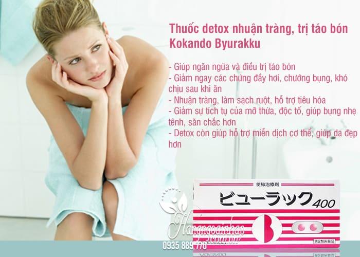 Thuốc detox nhuận tràng, trị táo bón Kokando Byurakku Nhật 3