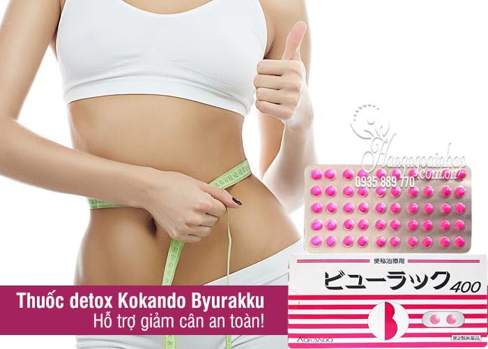 Thuốc detox nhuận tràng, trị táo bón Kokando Byurakku Nhật 2
