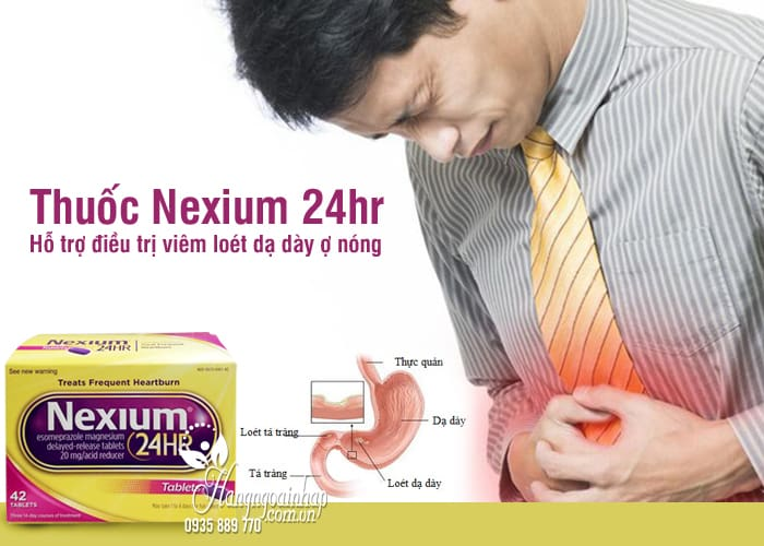 Thuốc Nexium 24hr - Hỗ trợ điều trị viêm loét dạ dày ợ nóng 1