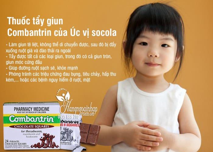 Thuốc tẩy giun Combantrin của Úc vị socola tiện dụng, hiệu quả 4