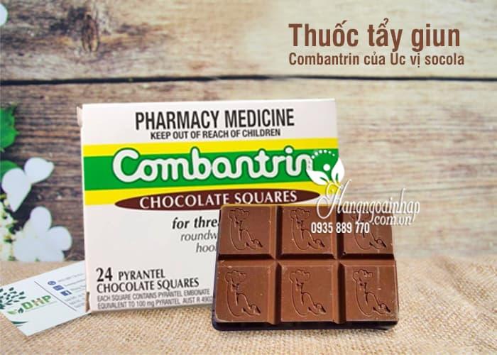 Thuốc tẩy giun Combantrin của Úc vị socola tiện dụng, hiệu quả 9