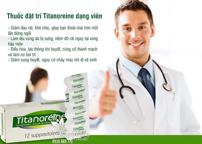 Thuốc đặt trĩ Titanoreine dạng viên của Pháp, hộp 12 viên 2
