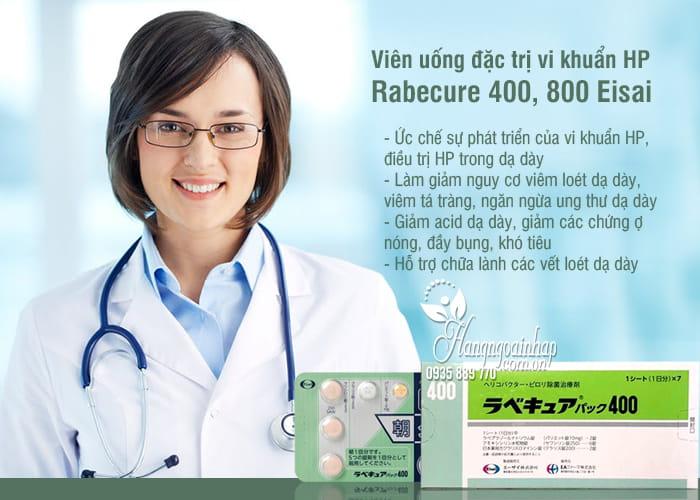 Viên uống đặc trị vi khuẩn HP Rabecure 400 Eisai Nhật Bản 4