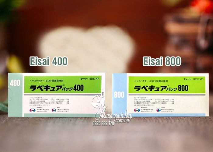 Viên uống đặc trị vi khuẩn HP Rabecure 400 Eisai Nhật Bản 2