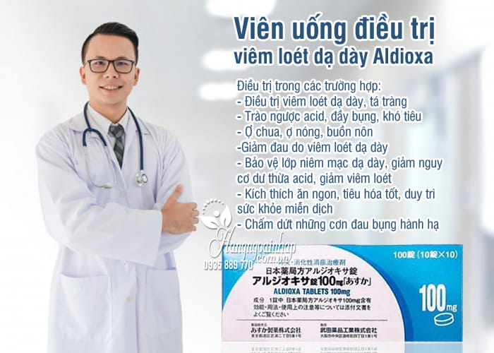 Viên uống điều trị viêm loét dạ dày Aldioxa 100mg 100 viên 1