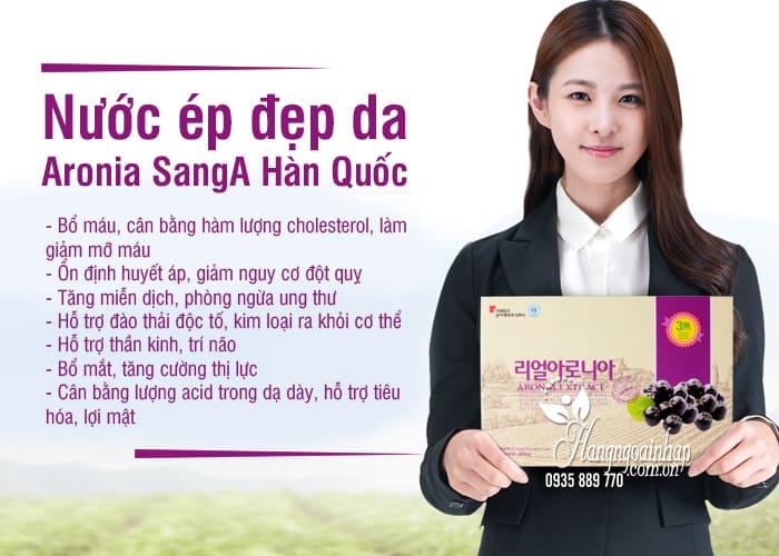 Nước ép đẹp da Aronia SangA Hàn Quốc hộp 30 gói 2