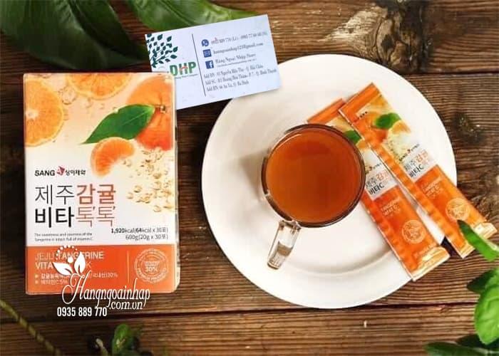 Nước ép quýt Sanga Jeju Tangerine Vita Tok Tok hộp 30 gói 4