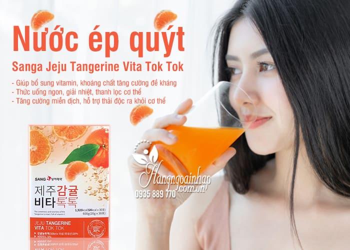 Nước ép quýt Sanga Jeju Tangerine Vita Tok Tok hộp 30 gói 1