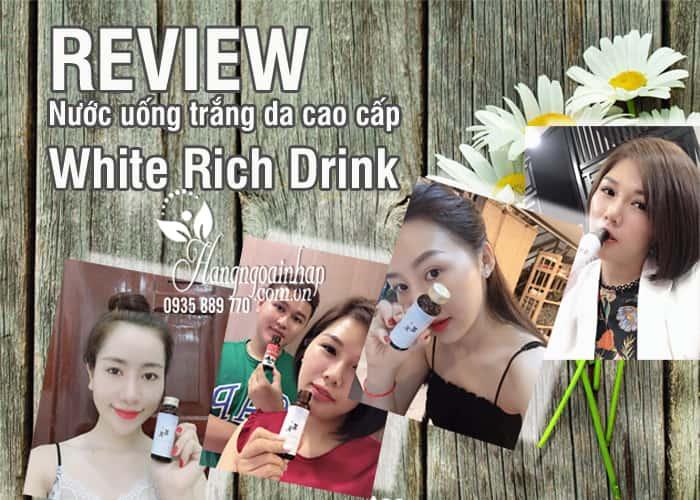 Nước uống trắng da cao cấp White Rich Drink của Nhật Bản 4