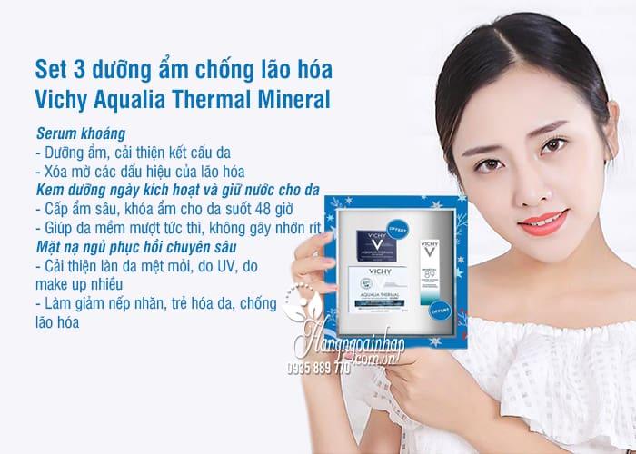 Set 3 dưỡng ẩm Vichy Aqualia Thermal Mineral Pháp chống lão hóa 2