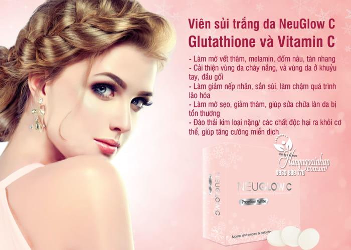 Viên sủi trắng da NeuGlow C Glutathione & Vitamin C 28 viên 4