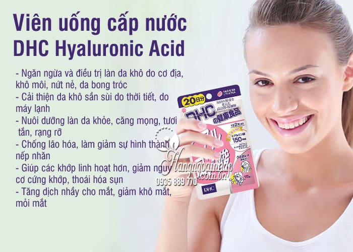 Viên uống cấp nước DHC Hyaluronic Acid 150mg Nhật Bản 3