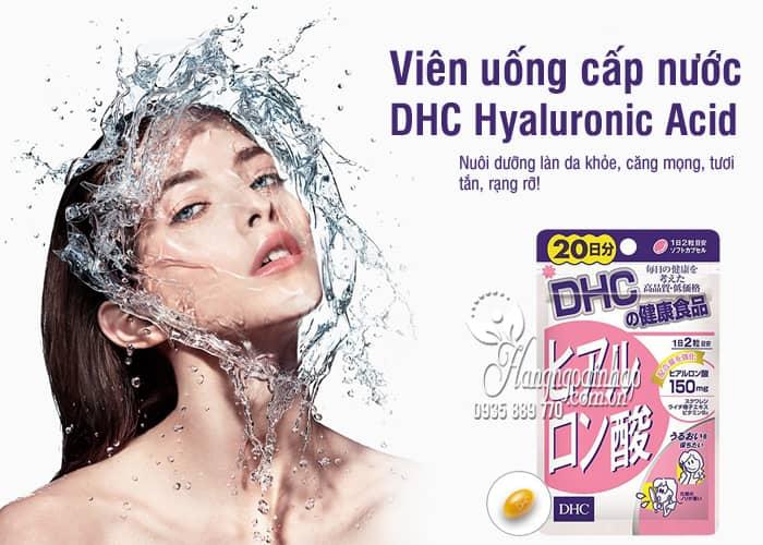 Viên uống cấp nước DHC Hyaluronic Acid 150mg Nhật Bản 8