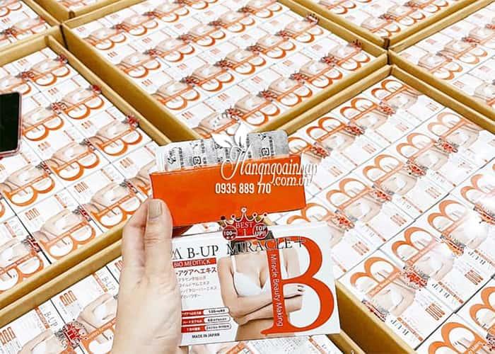 Viên uống nở ngực, mông B-Up Miracle + 60 viên Nhật Bản 0