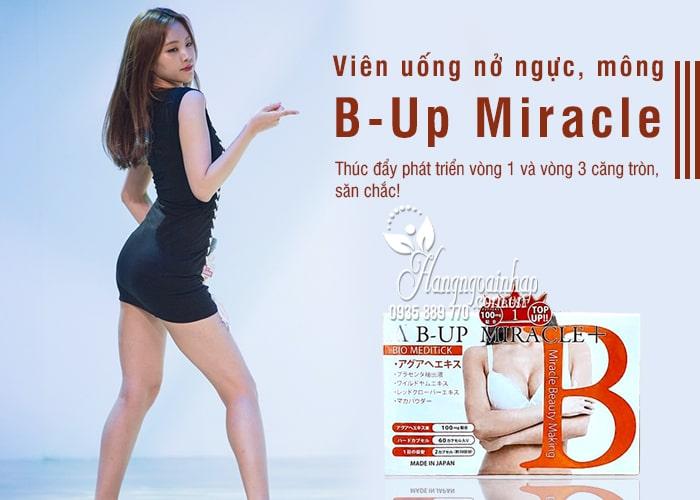 Viên uống nở ngực, mông B-Up Miracle + 60 viên Nhật Bản 1