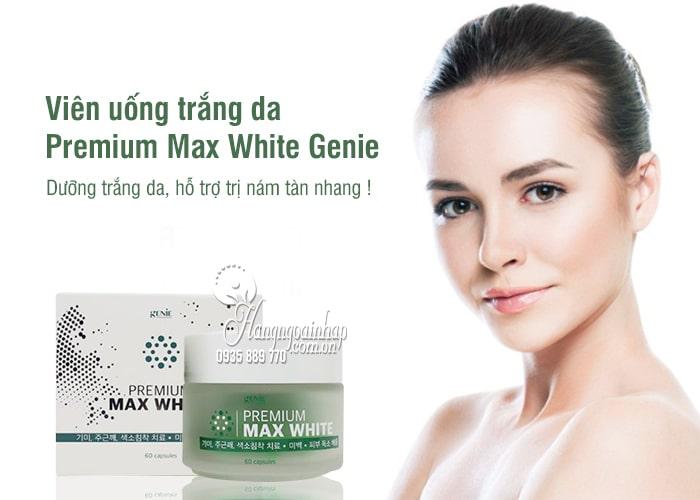 Viên uống trắng da Premium Max White Genie Hàn Quốc tốt nhất 4