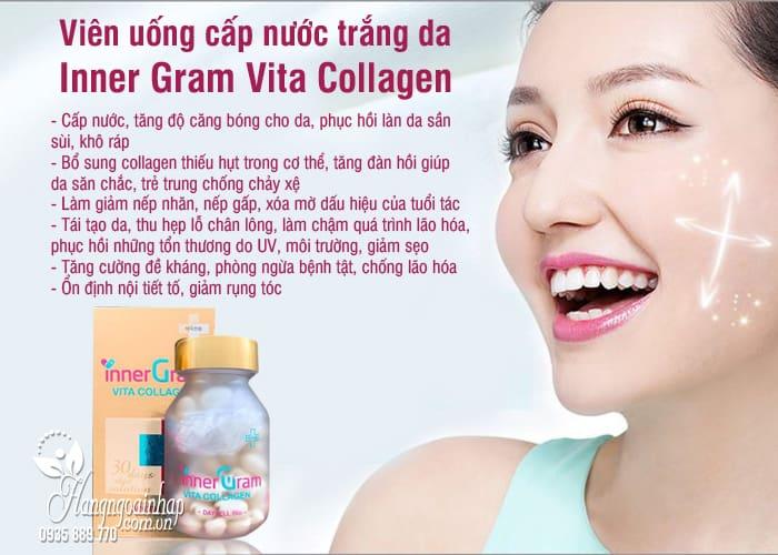 Viên uống cấp nước trắng da Inner Gram Vita Collagen 60 viên 54