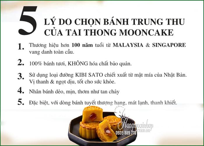 Bánh trung thu Lava Custard Tai Thong MoonCare hộp 8 cái 2