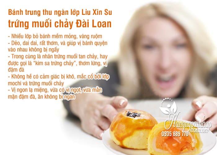 Bánh trung thu ngàn lớp Liu Xin Su trứng muối chảy Đài Loan 8