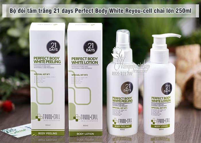Bộ đôi tắm trắng 21 days Perfect Body White Reyou-cell 100ml 7