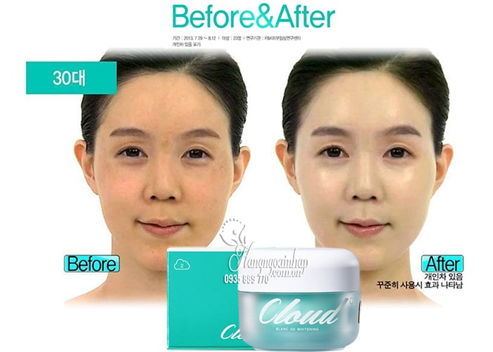 Kem dưỡng trắng da Cloud 9 Complex Whitening Cream 50ml Hàn 2