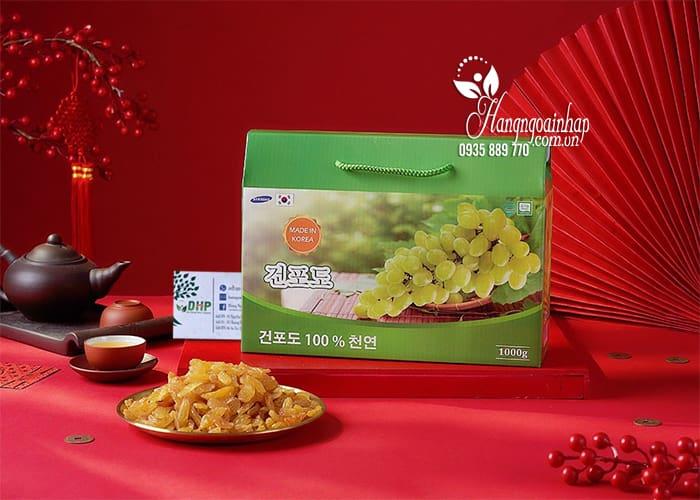 Nho khô Hàn Quốc hộp 1kg - Nho khô cao cấp, quà Tết 1