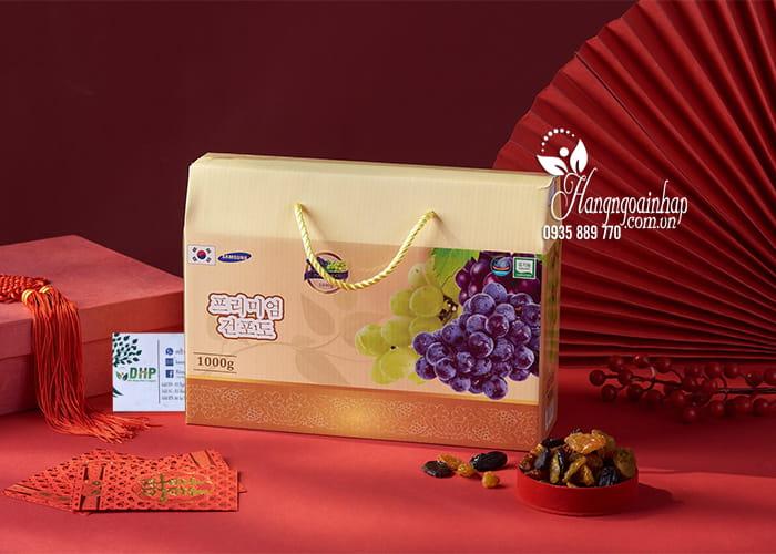 Nho khô Hàn Quốc hộp 1kg - Nho khô cao cấp, quà Tết 4