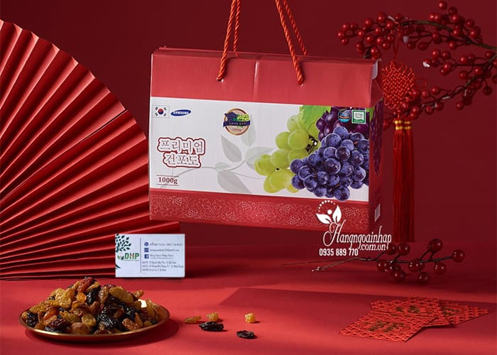 Nho khô Hàn Quốc hộp 1kg - Nho khô cao cấp, quà Tết 7