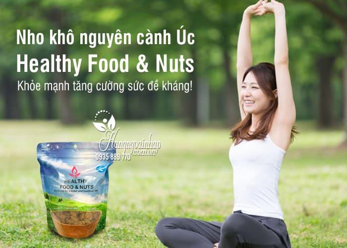 Nho khô nguyên cành Úc Healthy Food & Nuts 350g - nho hữu cơ 1