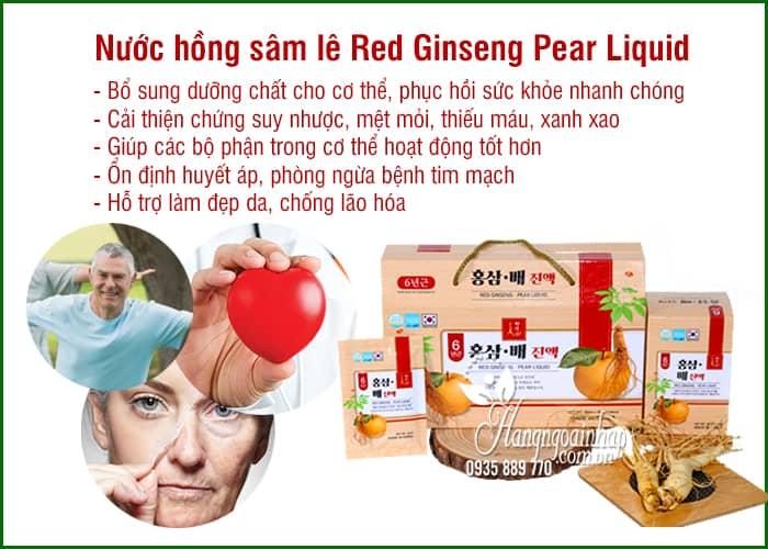 Nước hồng sâm lê Red Ginseng Pear Liquid 30 gói x 50ml 8