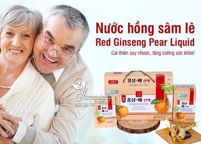 Nước hồng sâm lê Red Ginseng Pear Liquid 30 gói x 50ml 4