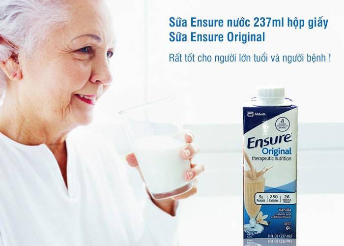 Sữa Ensure nước 237ml hộp giấy - Sữa Ensure Original của Mỹ 1