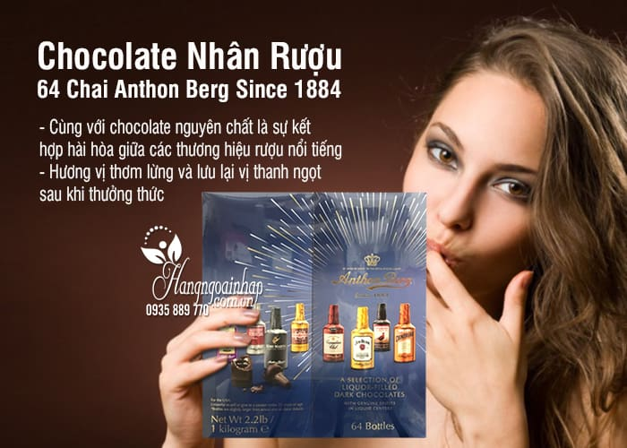 Chocolate Nhân Rượu 64 Chai Anthon Berg Since 1884 của Mỹ 1