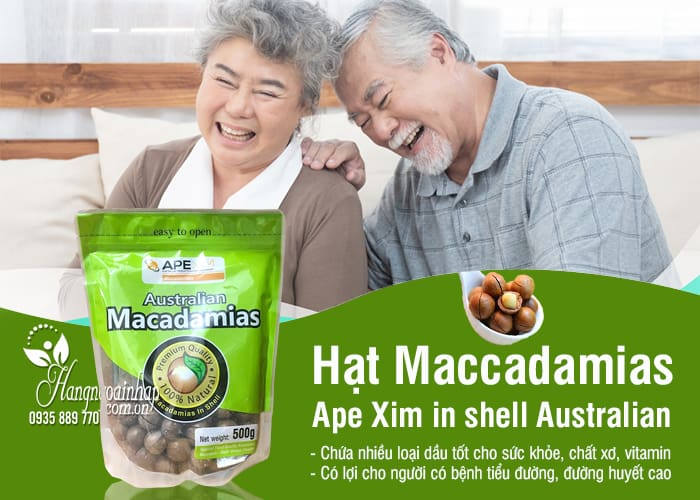 Hạt Maccadamias Ape Xim in shell Australian gói 500g - Úc 2