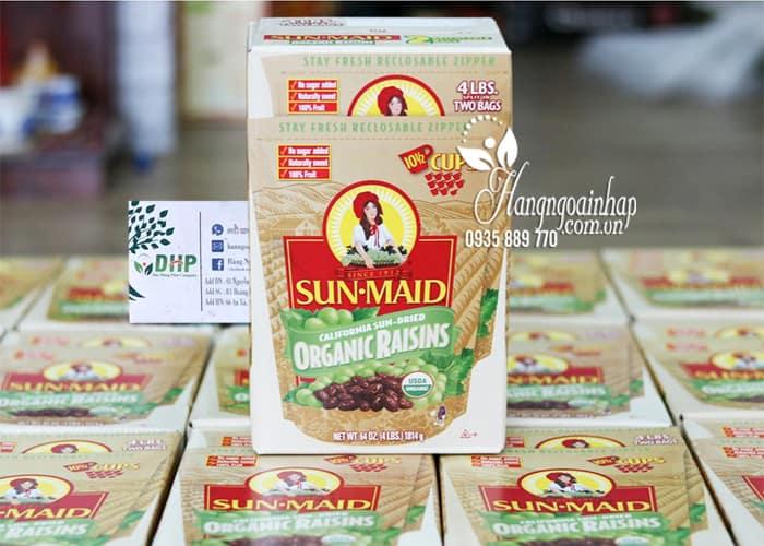 Nho khô hữu cơ Sun Maid Organic Raisins 907g x 2 của Mỹ 4