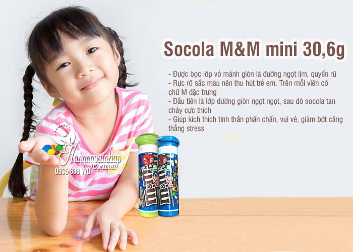 Socola M&M mini 30,6g xách tay Mỹ - Dạng thỏi tiện lợi 3