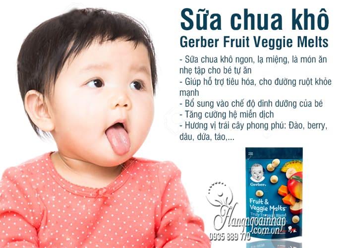 Sữa chua khô Gerber Fruit Veggie Melts 28g của Mỹ cho bé 5