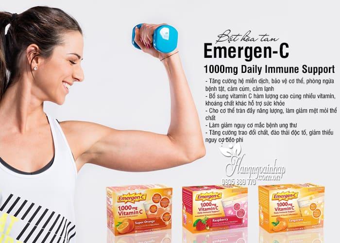 Bột hòa tan Emergen-C 1000mg Daily Immune Support 90 gói 9