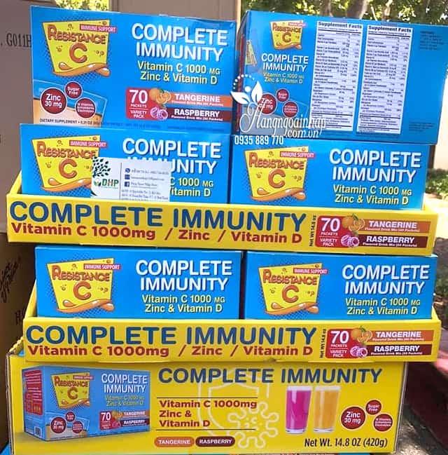 Bột sủi C tăng đề kháng Resistance C Complete Immunity 9