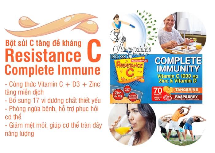 Bột sủi C tăng đề kháng Resistance C Complete Immunity 8