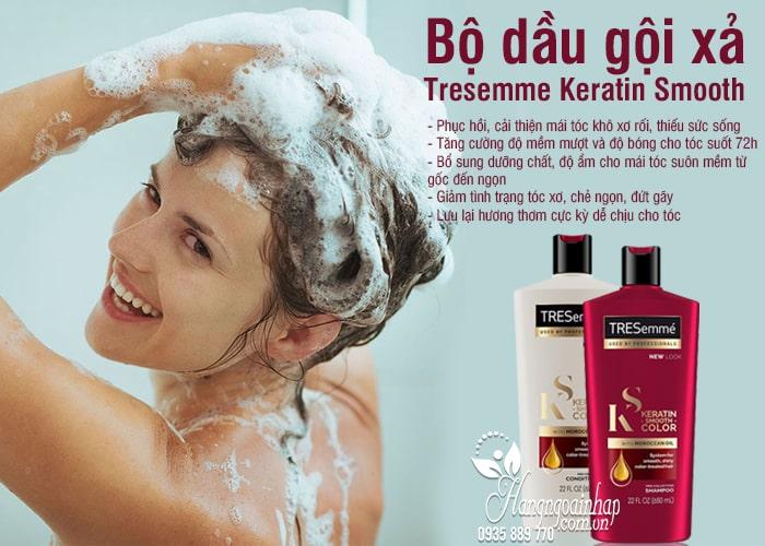 Bộ dầu gội xả Tresemme Keratin Smooth 650ml mẫu mới 1