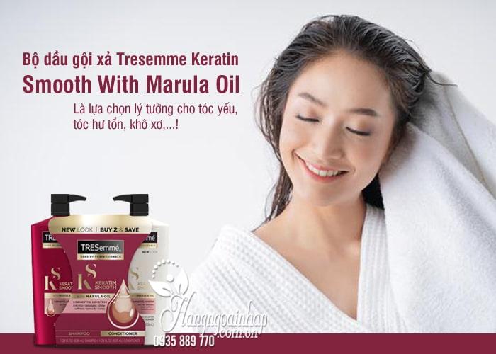 Bộ dầu gội xả Tresemme Keratin Smooth With Marula Oil 828ml 8