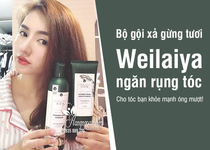 Bộ gội xả gừng tươi Weilaiya giá tốt, ngăn rụng tóc hiệu quả 5