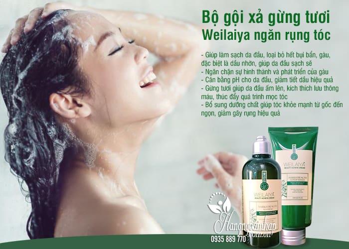 Bộ gội xả gừng tươi Weilaiya giá tốt, ngăn rụng tóc hiệu quả 4